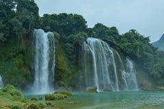 Ban Gioc Waterfall na província de Cao Bang de Vietname foto de stock