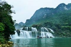 Ban Gioc Waterfall na província de Cao Bang de Vietname fotografia de stock royalty free