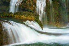 Ban Gioc waterfall in north of Vietnam.  Stock Photo