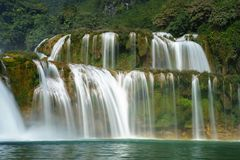 Ban Gioc waterfall in north of Vietnam.  Stock Images