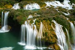 Ban Gioc waterfall in north of Vietnam.  Royalty Free Stock Image