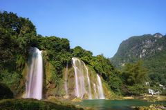 Ban Gioc waterfall in north of Vietnam.  Royalty Free Stock Images