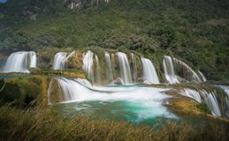 Ban Gioc waterfall in north of Vietnam.  Stock Photography