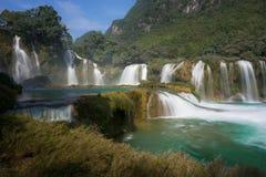 Ban Gioc waterfall in north of Vietnam.  Stock Photos