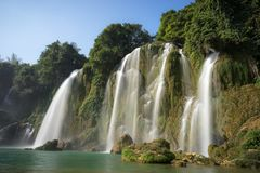 Ban Gioc waterfall in north of Vietnam.  Royalty Free Stock Photo