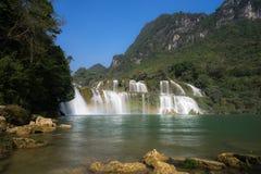 Ban Gioc waterfall in north of Vietnam.  Stock Image