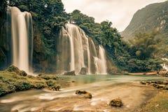 Ban Gioc Waterfall in Vietnam. Beautiful Royalty free stock photo. Ban Gioc Waterfall in Vietnam Stock Images