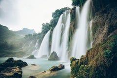 Ban Gioc Waterfall in Vietnam. Beautiful Royalty free stock photo. Ban Gioc Waterfall in Vietnam Stock Photos