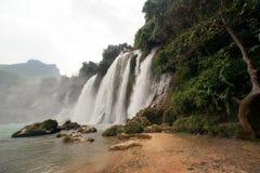 Ban Gioc waterfall in Vietnam. stock photo