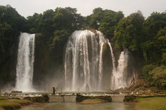 Ban Gioc waterfall in Vietnam. Royalty Free Stock Photos