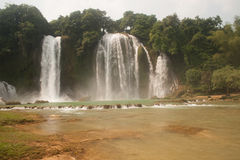 Ban Gioc waterfall in Vietnam. Royalty Free Stock Images