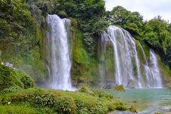 Ban Gioc Waterfall in Vietnam. View of the beautiful Ban Gioc Waterfall on the border of Vietnam and China Royalty Free Stock Image