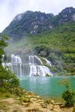 Ban Gioc Waterfall in Vietnam. View of the beautiful Ban Gioc Waterfall on the border of Vietnam and China Stock Photography
