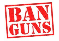 BAN GUNS Stock Image