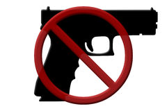 Ban on handguns rifles Royalty Free Stock Photo
