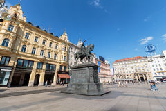 Ban Jelacic monument stock photography