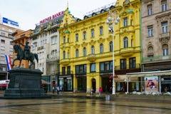 Ban Jelacic Square, Zagreb Royalty Free Stock Photo