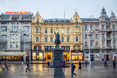 Ban Jelacic Square Royalty Free Stock Image