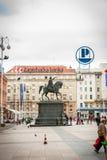 Ban Jelacic square, Zagreb, Croatia Royalty Free Stock Image