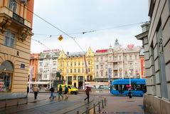 Ban Jelacic square, Zagreb, Croatia Stock Photo