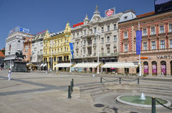 Ban Jelacic Square, Zagreb Royalty Free Stock Photography