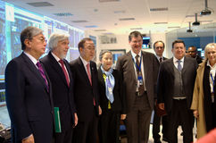 Ban Ki-Moon visits CERN Royalty Free Stock Photography
