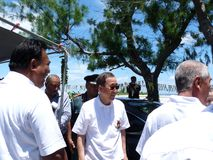 Ban Ki-Moon in Kiribati, South Pacific Royalty Free Stock Photography