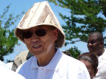 Ban Ki-Moon in Kiribati, South Pacific Stock Photo