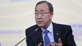 Ban Ki-moon stock footage