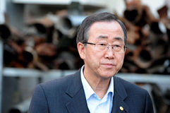 Ban Ki-moon - secrétaire General de l'ONU Image stock