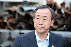 Ban Ki-moon - Secretaresse General van de V.N. Stock Fotografie