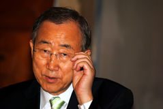 Ban Ki-moon. Is a South Korean statesman and politician who is the eighth and current Secretary-General of the United Nations. Before becoming Secretary-General Stock Photos