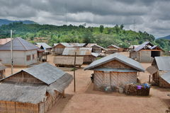 Ban Kiu Kam Pone. Khmu tribe village. Luang Prabang province. Laos Royalty Free Stock Image
