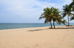 Ban Krut Beach. At Bangsaphan in Prachuap Khiri Khan Province, Thailand Royalty Free Stock Photography
