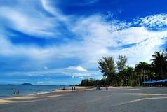 Ban Krut Beach. Is a beautiful beach at Gulf of Thailand stock image