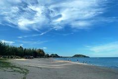 Ban Krut Beach. Is a beautiful beach at Gulf of Thailand stock photography