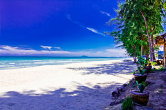 Ban krut beack. A beach is beautiful, the green tree, the green sea,    the sky is blue Stock Photography