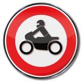 Ban of motorcycles Royalty Free Stock Photo