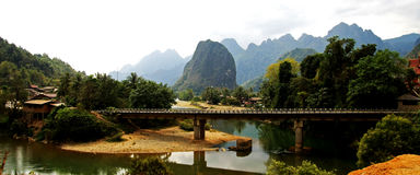 Ban pha tang bridge Stock Photo