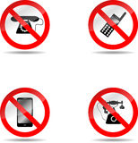 Ban phone set Stock Image