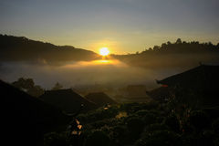 Ban Rak Thai Village, a Chinese settlement in Mae Hong Son,Thailand Royalty Free Stock Images