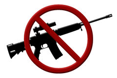 Ban on rifles Stock Images
