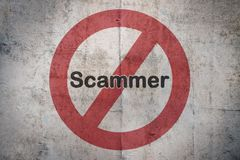 Ban the scammer Royalty Free Stock Images