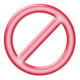 Ban sign Stock Photography