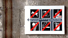 The Ban sign Stock Photo