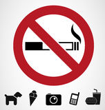 Ban signs stock illustration