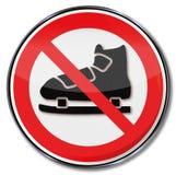 Ban of skating Royalty Free Stock Photo
