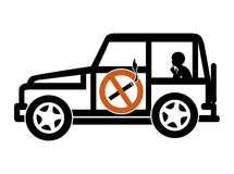 Ban Smoking in Cars with Minors. Smoking in private vehicles with underage passengers is illegal in many countries Stock Photography
