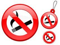 Ban on smoking sign collection Stock Photography