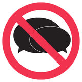 Ban speak sign Royalty Free Stock Images